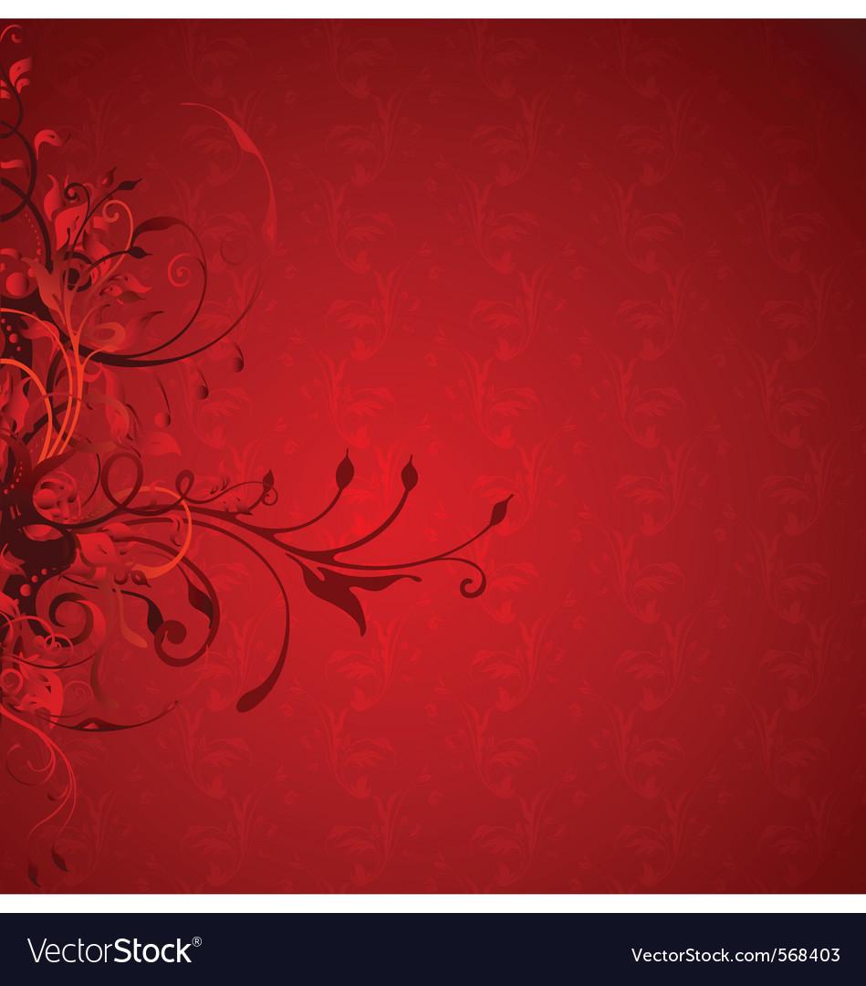 Decorative floral vector