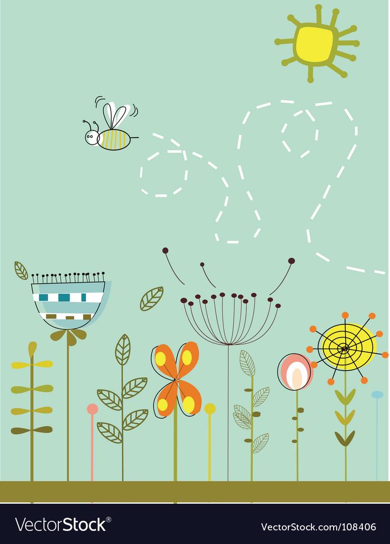 Abstract garden vector