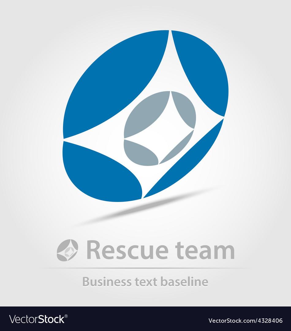Rescue team business icon vector