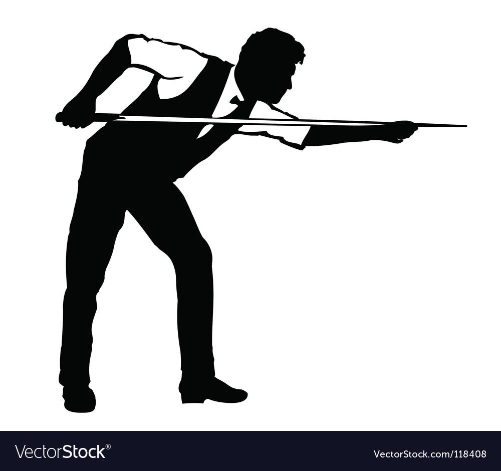Billiards player vector