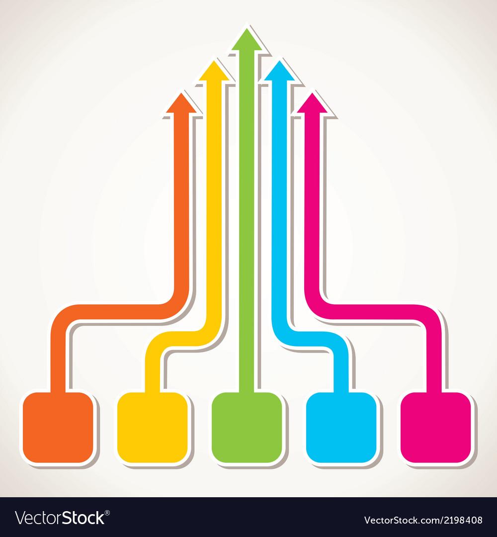 Creative colorful arrow design vector