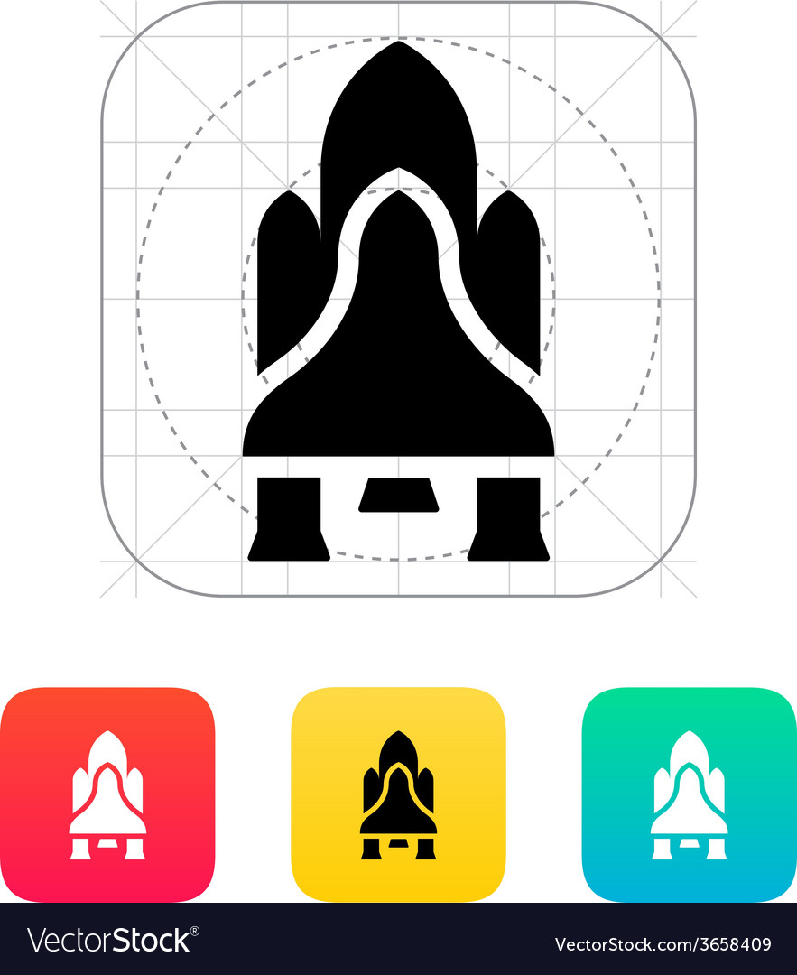 Shuttle icon on white background vector