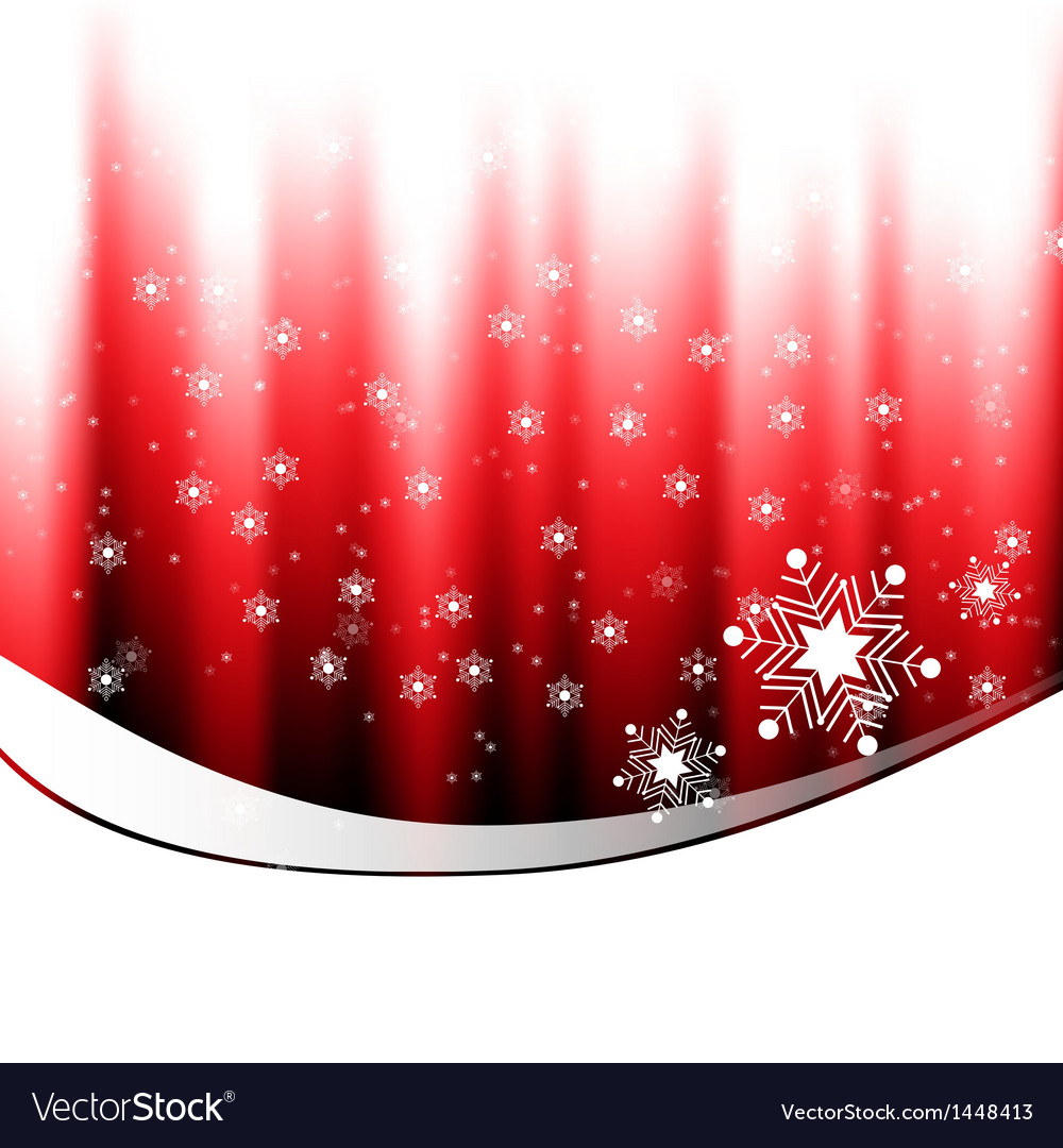 White snow falling on red background vector