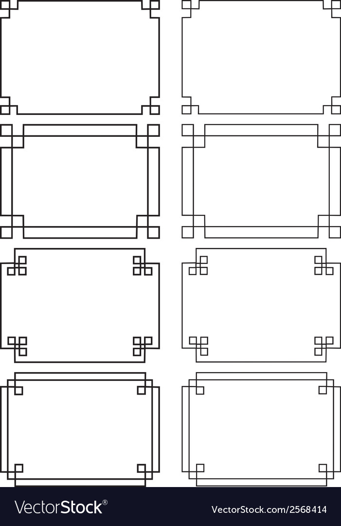 Fretwork frames vector