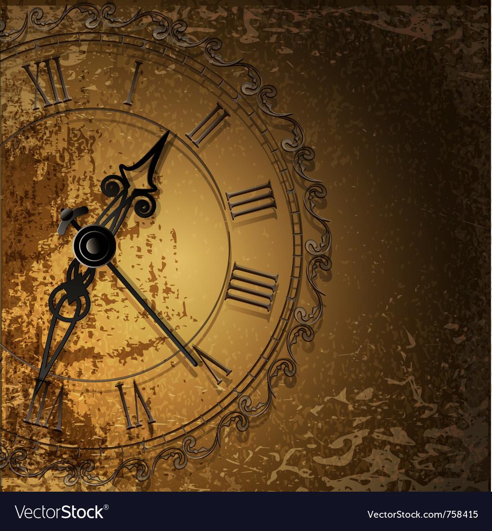Antique clock background vector