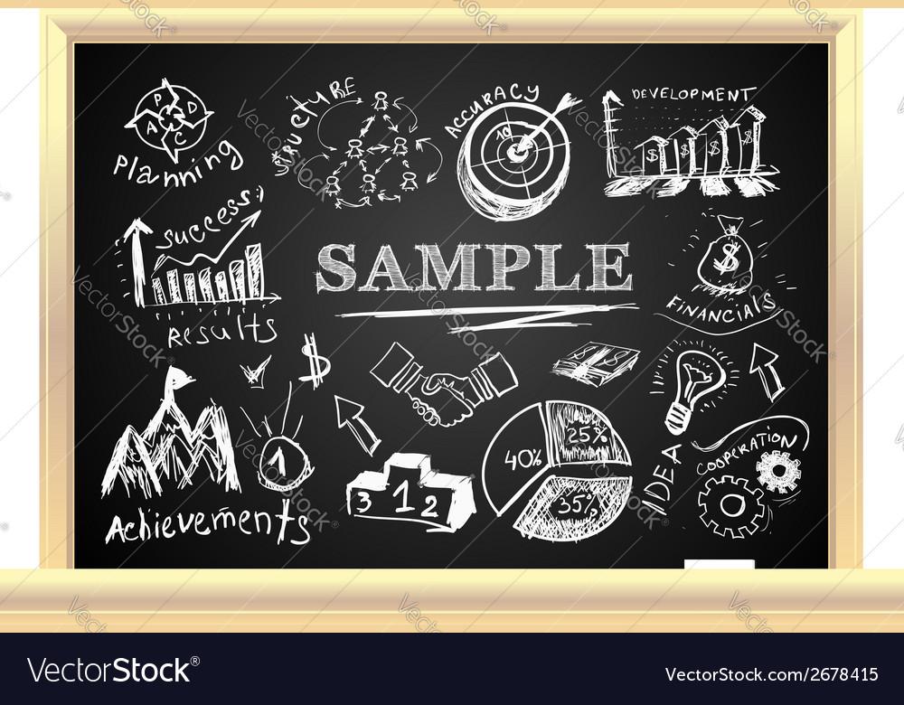 Creative blackboard idea vector