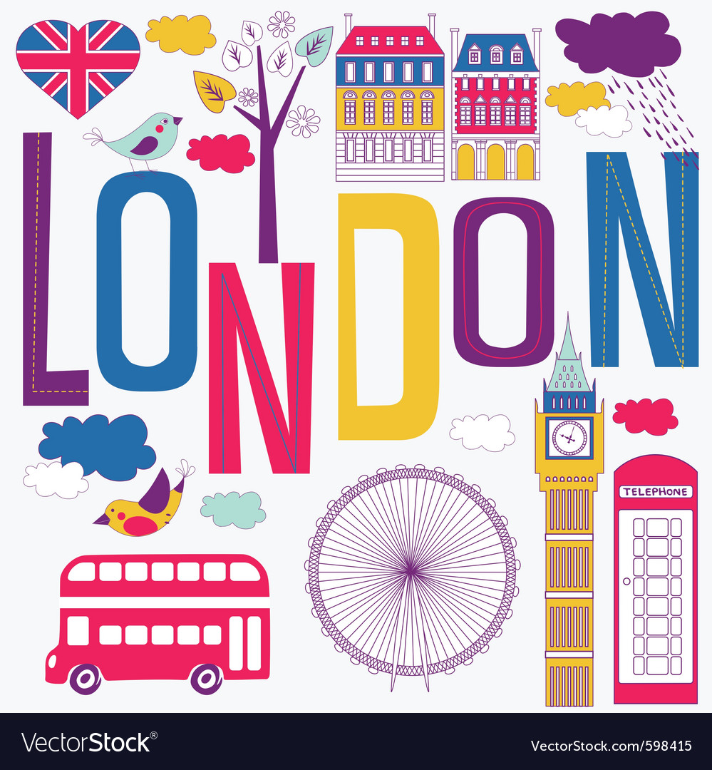 London artistic vector