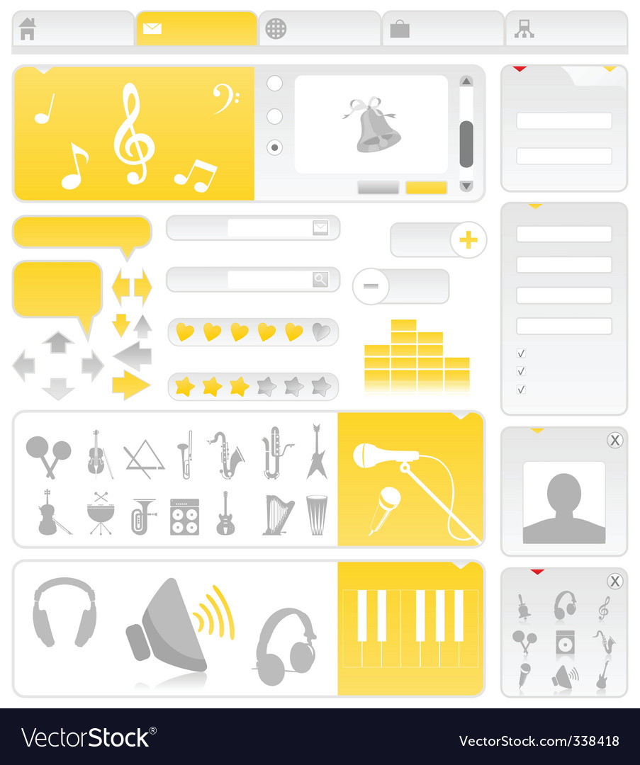 Musical site vector