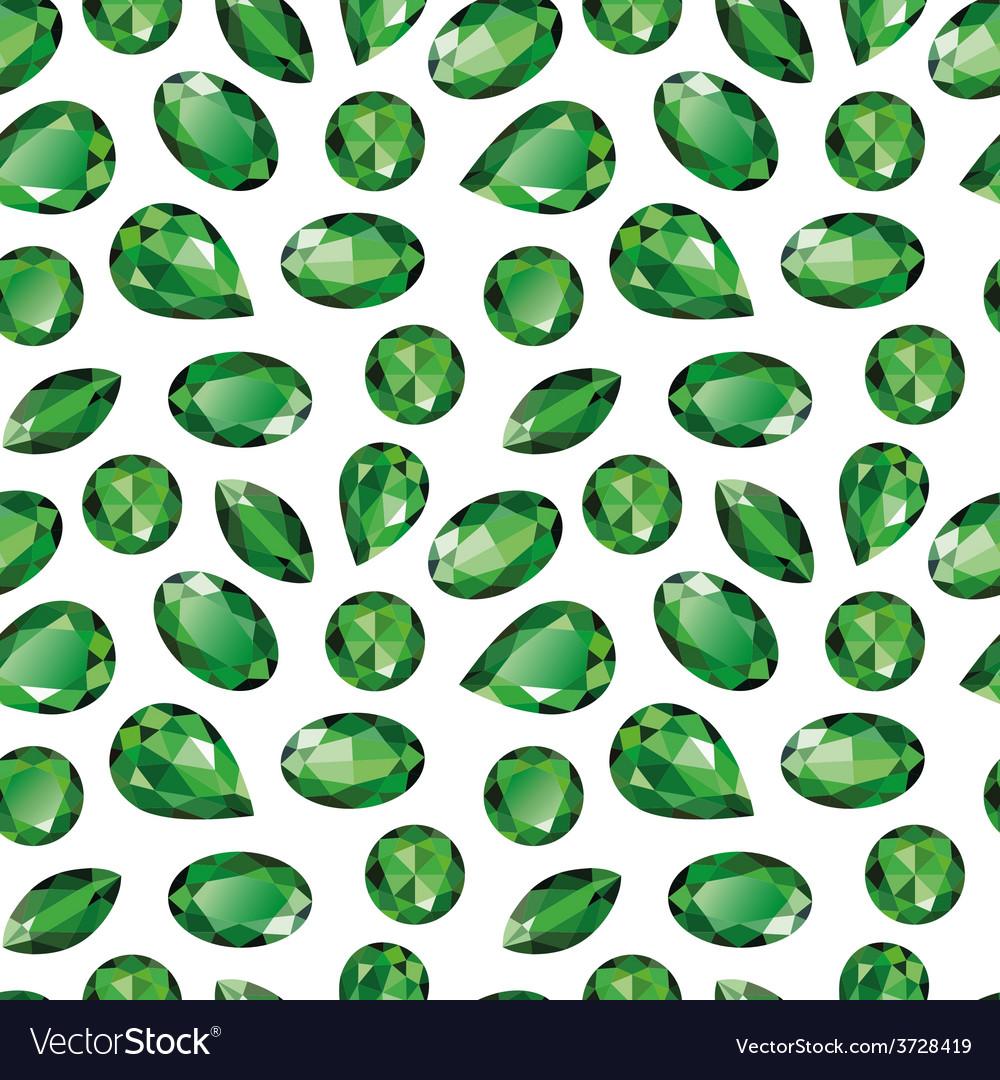 Emeralds seamless texture vector