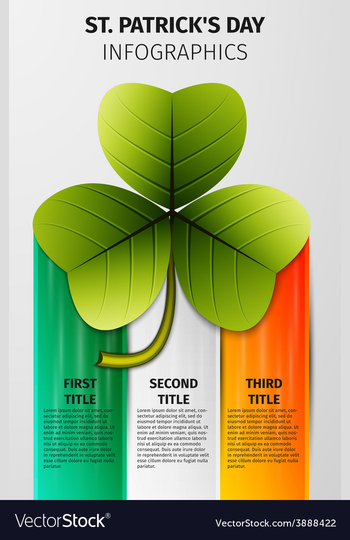 St patricks day infographics vector