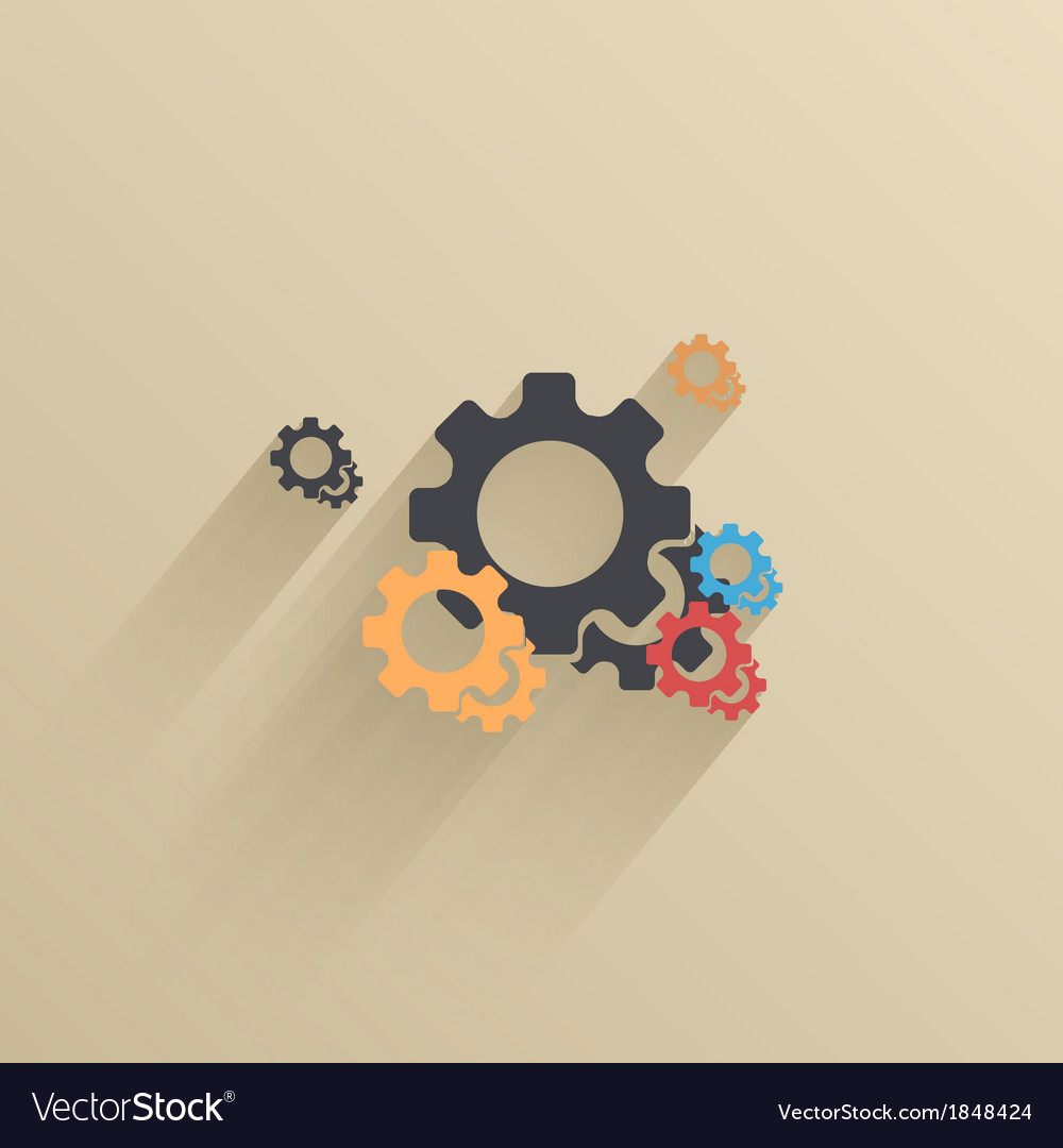 Creative flat ui icon background eps 10 vector