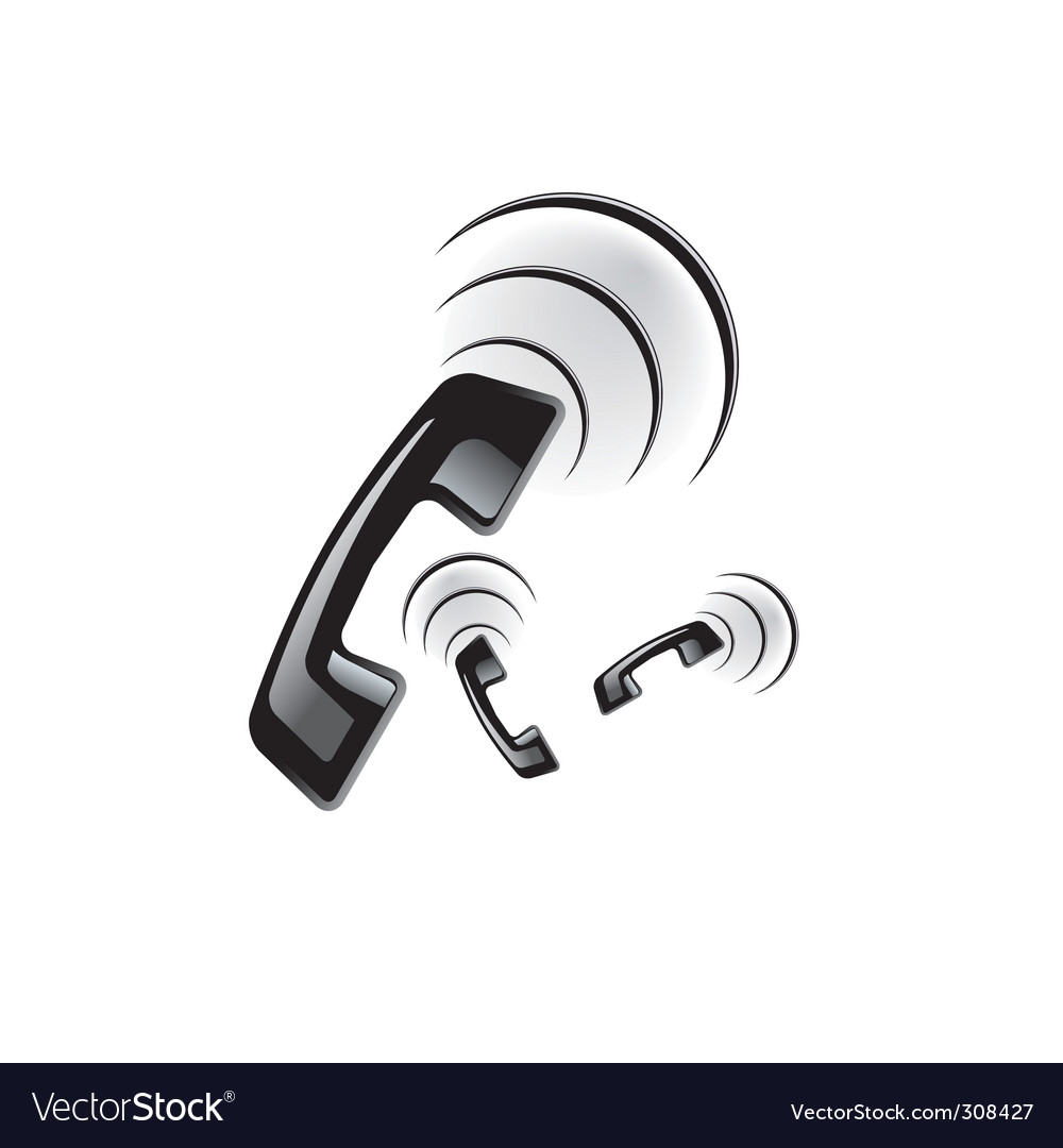 Phone ring vector