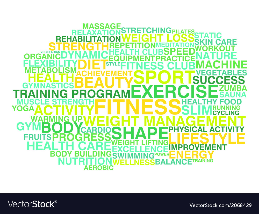 Fitness exercise sport and healthy lifestyle vector