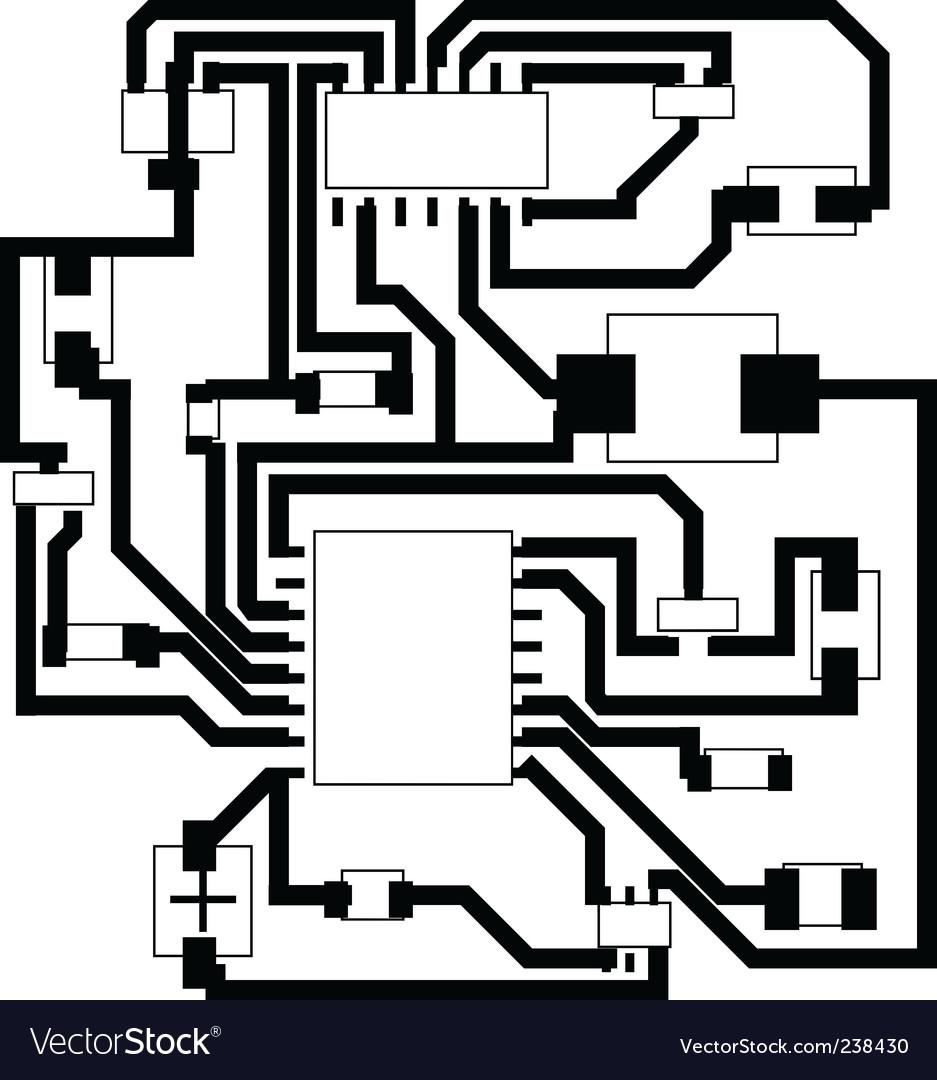 Electrical scheme vector