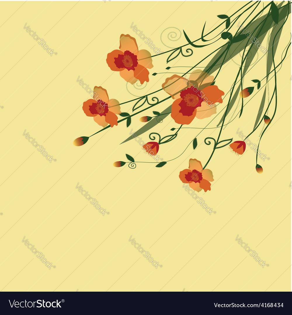 The flower vine vector