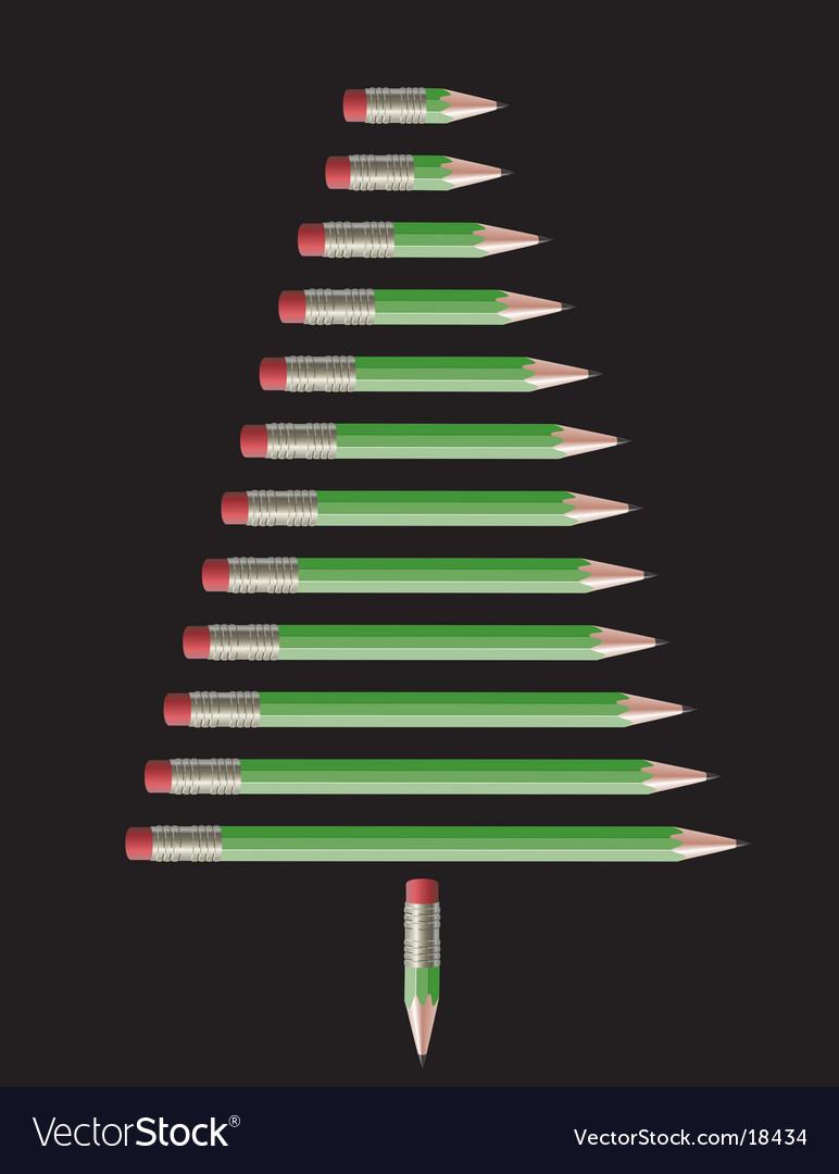 Pencil-christmas tree vector