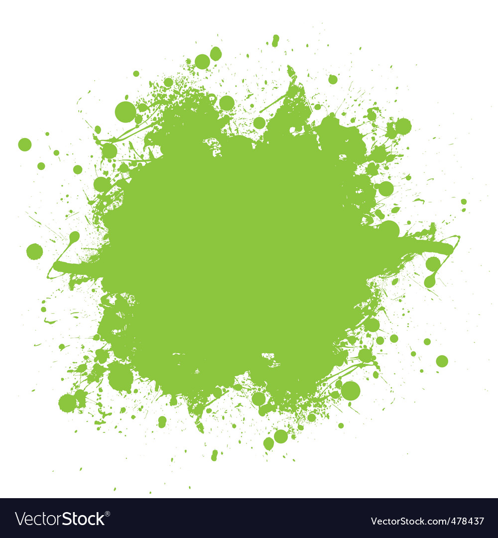 Green ink splatter vector