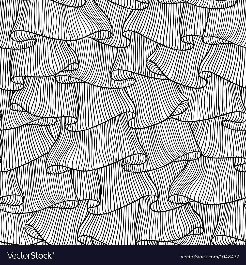 Sketch lace frills seamless pattern vector
