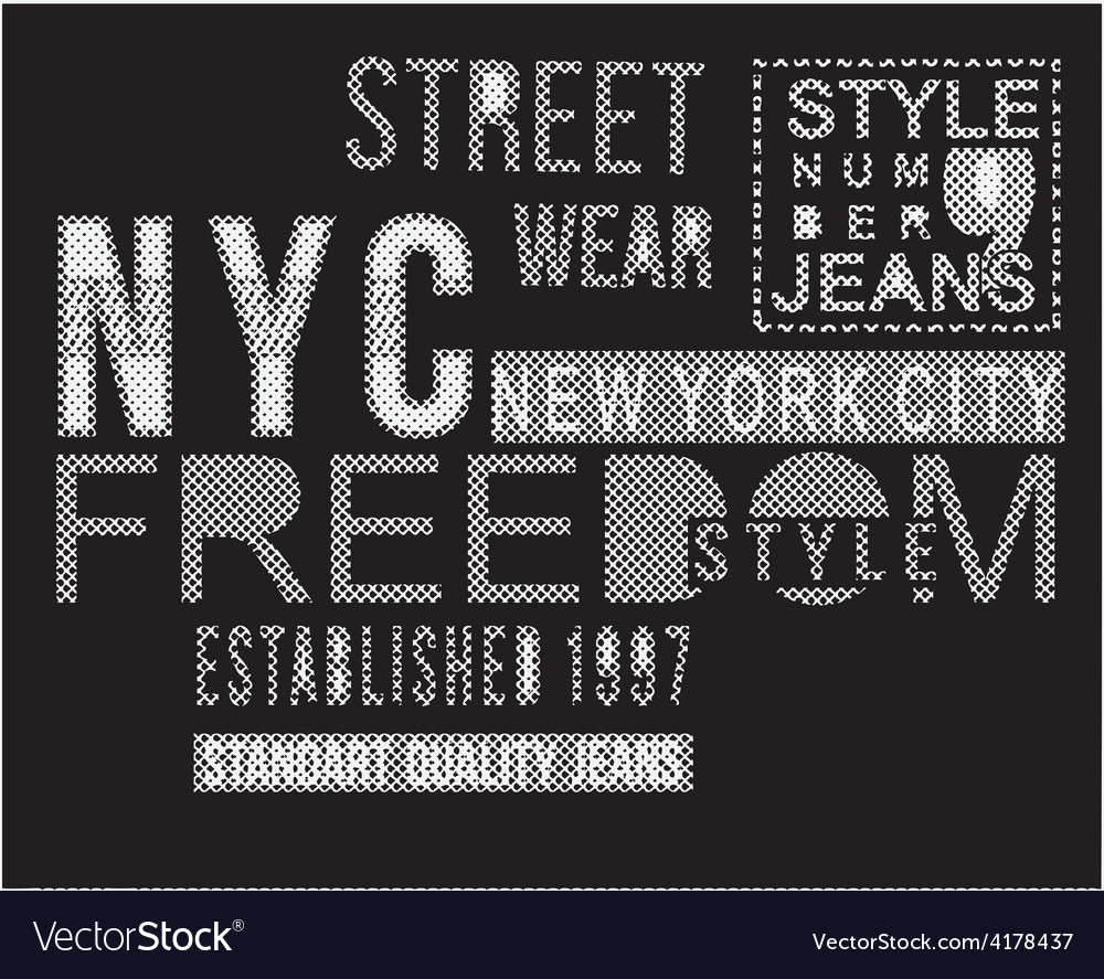 Street style typography t-shirt graphics vector