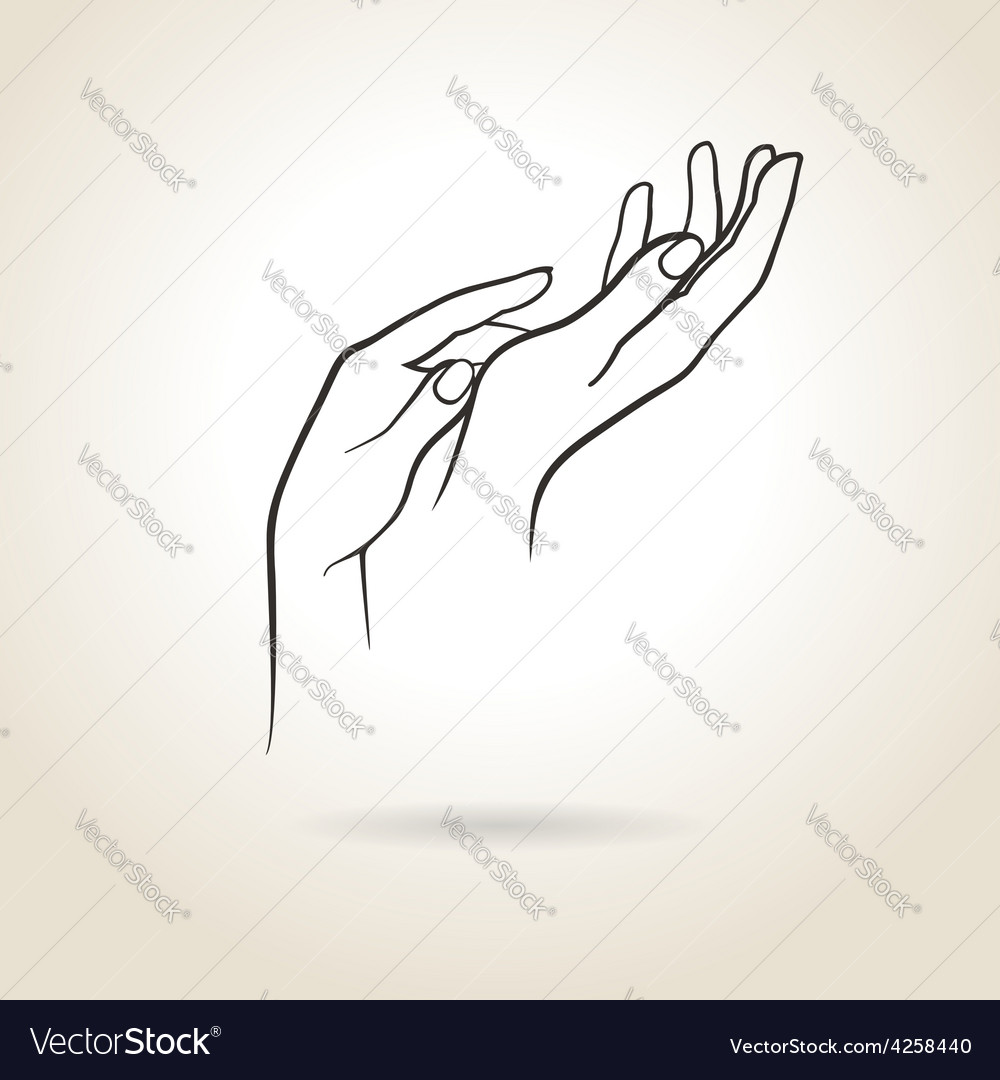 Female hands vector