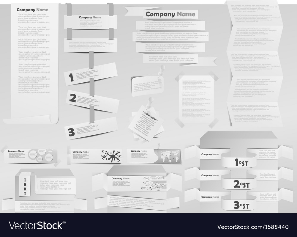 Paper white banner post it vector