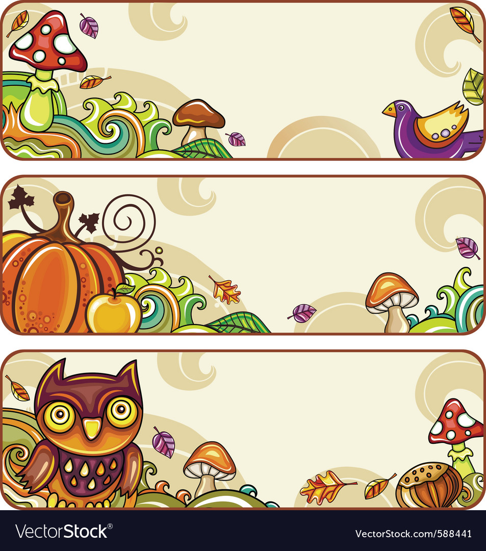 Autumn banners part 4 vector