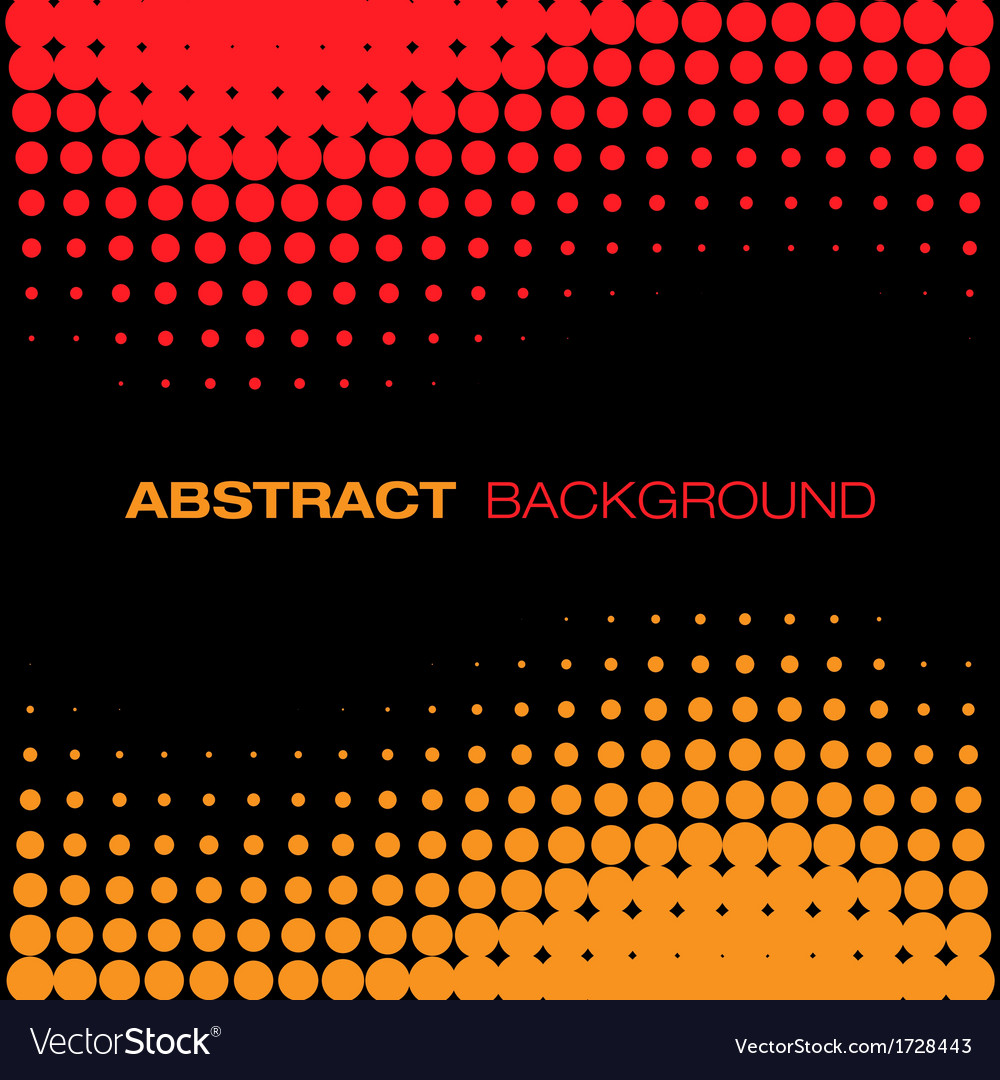 Abstract black red yellow halftone background vector