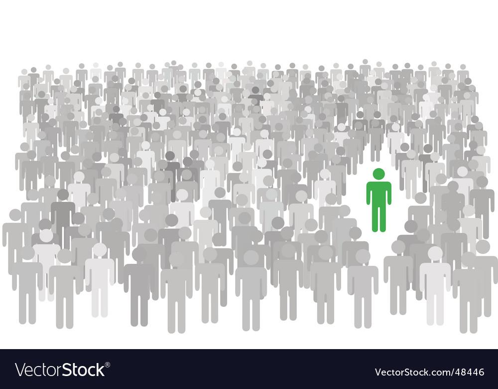 Individual person icon vector