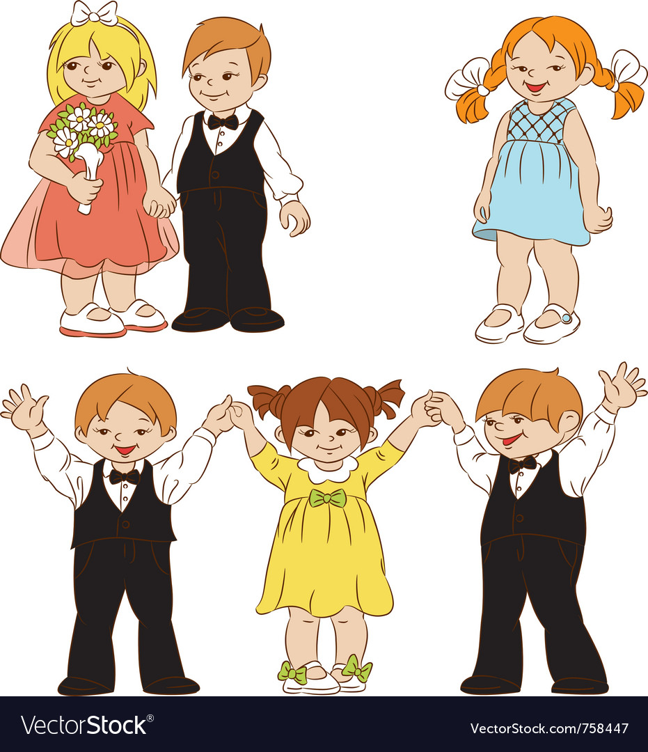 Elegant children vector