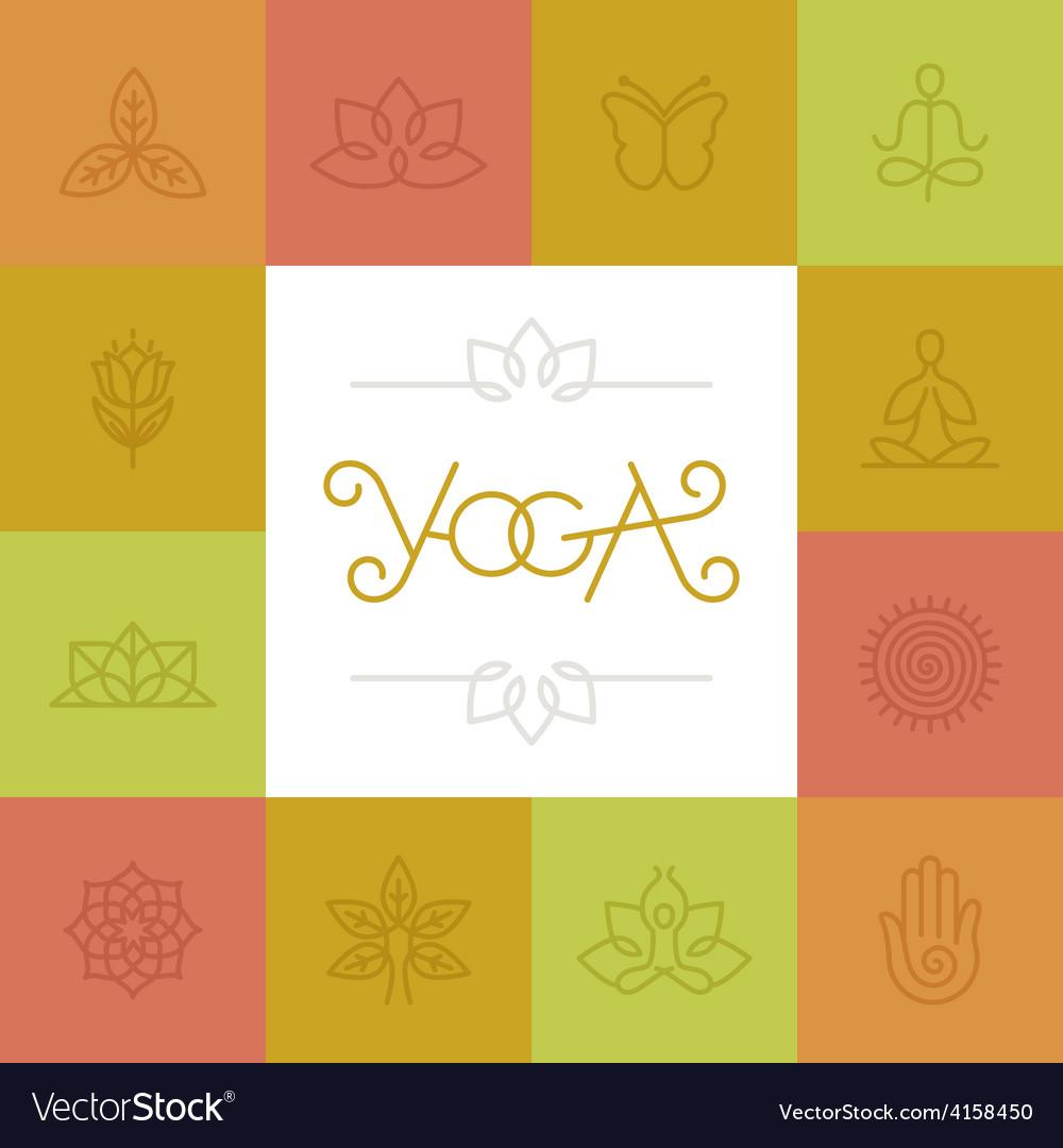 Linear yoga logo vector