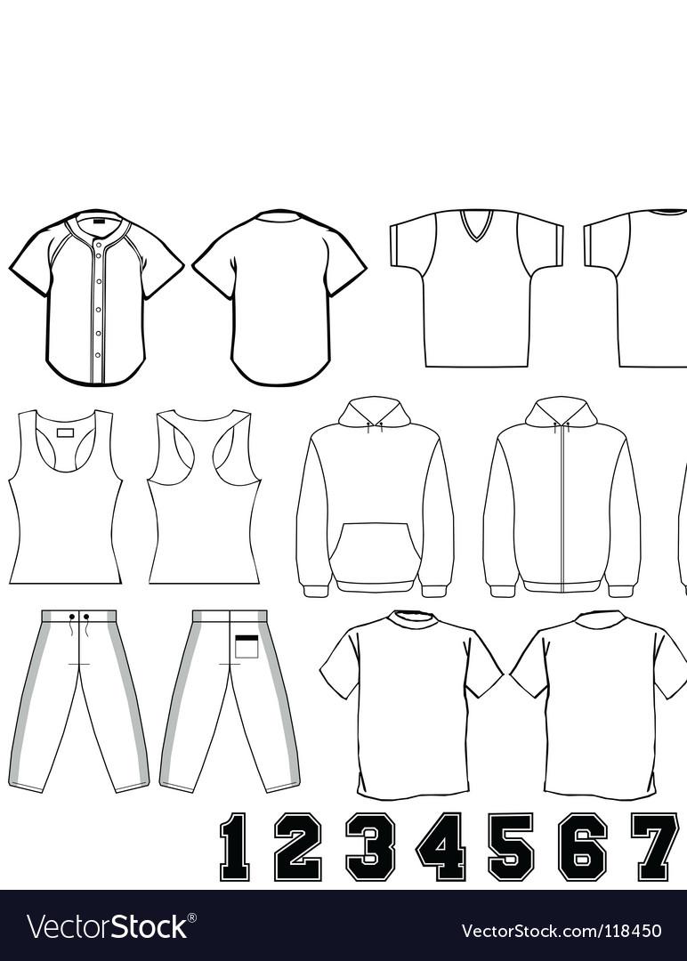 Sports wear template vector
