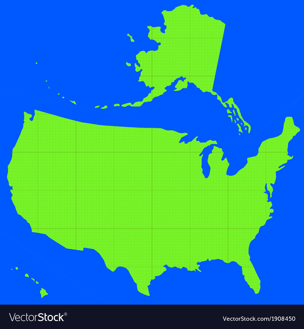 Stencil silhouette map of usa vector