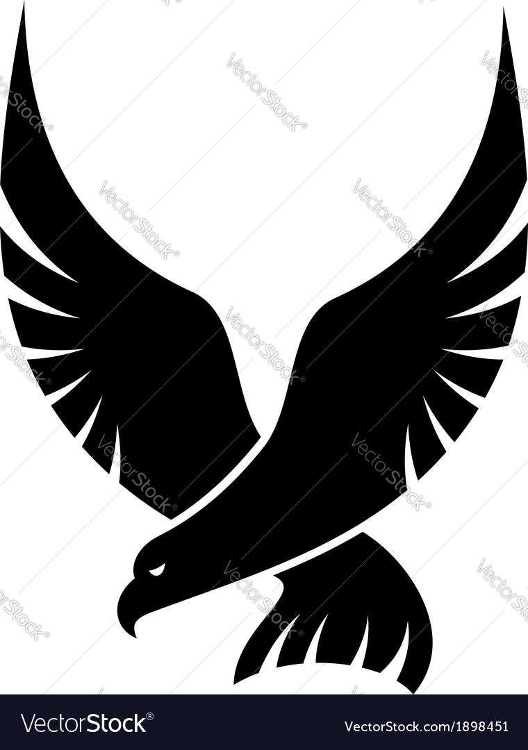 Swooping falcon bird vector
