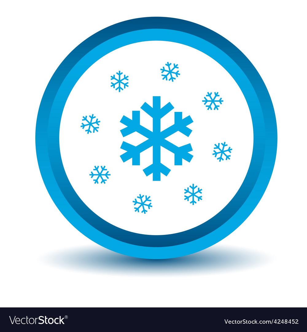 Blue snow icon vector