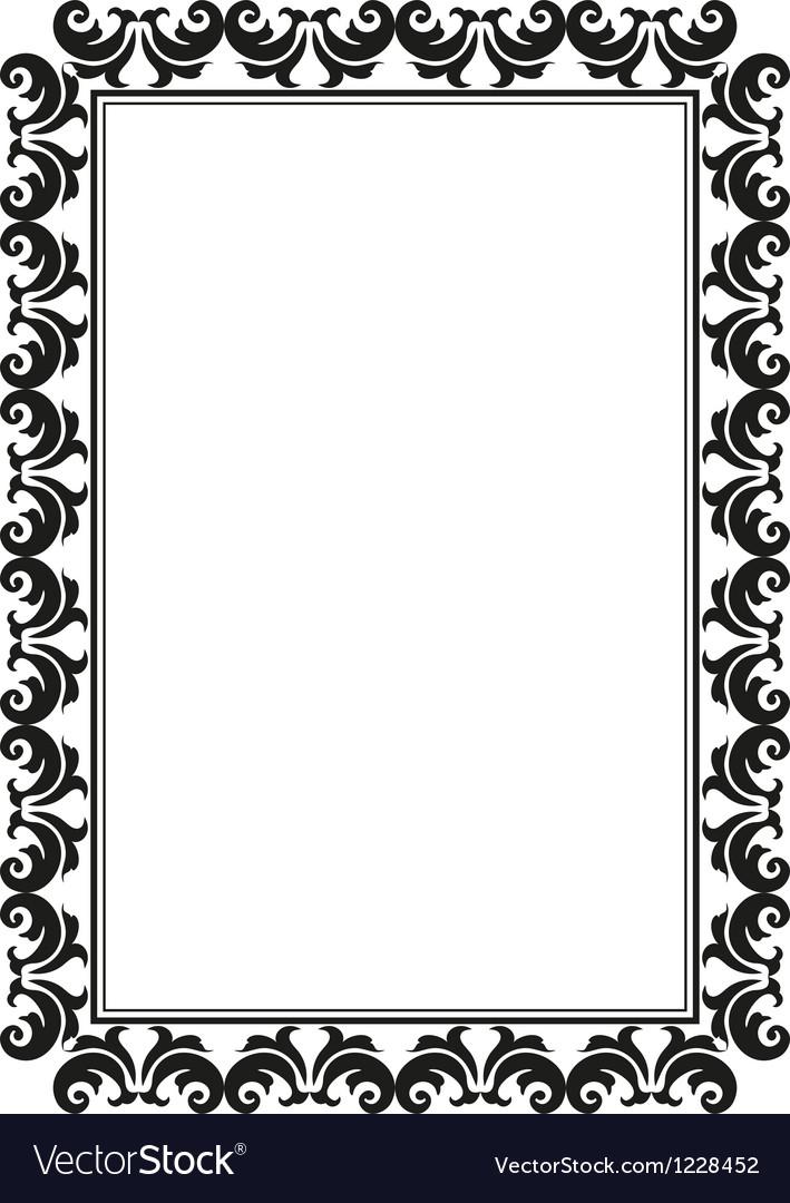 Rectangular frame vector