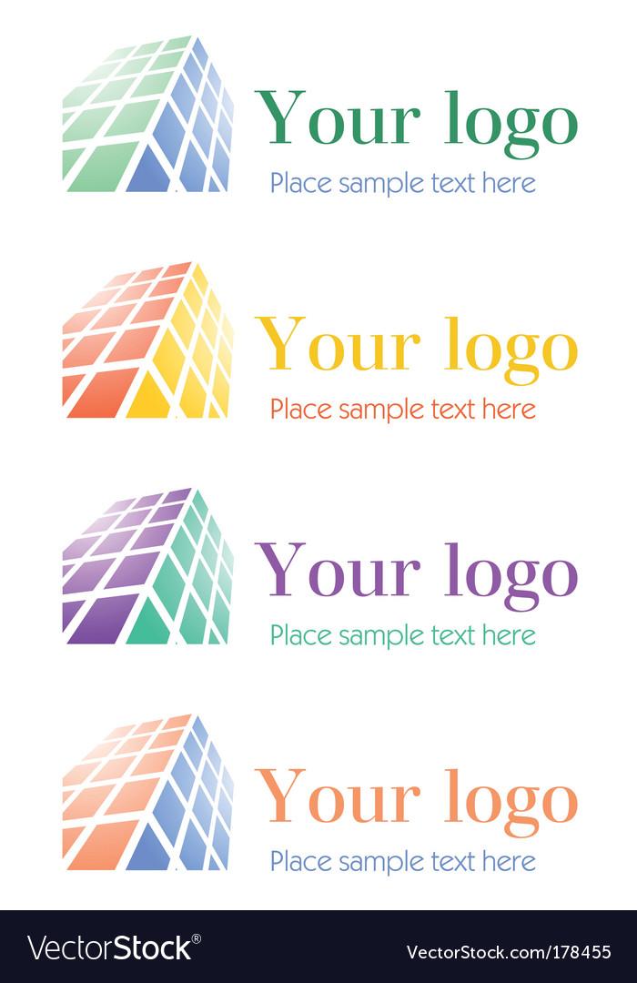 Architectural corporate logos set vector