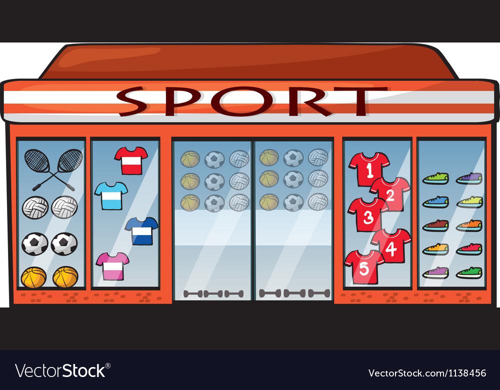 A sports shop vector