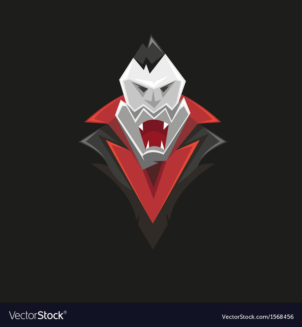 Vampire icon isolated on a black vector