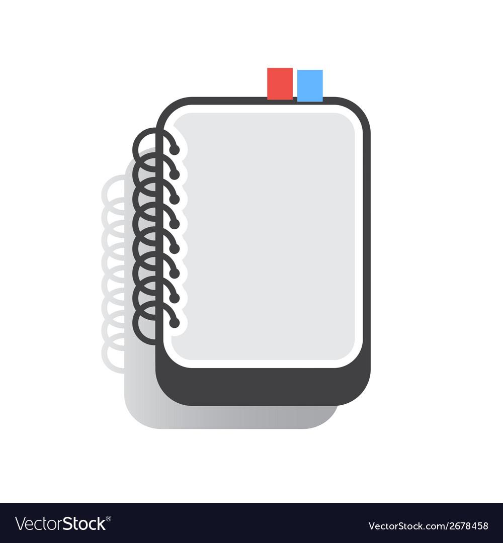 Notebook flat vector