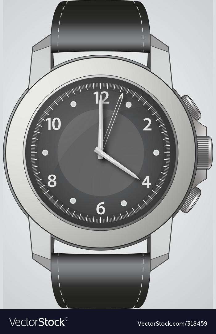 Analog watch vector