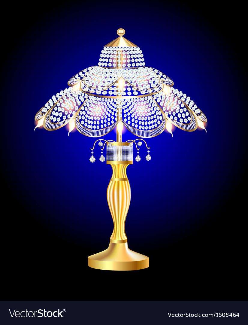 Beautiful table lamp vector