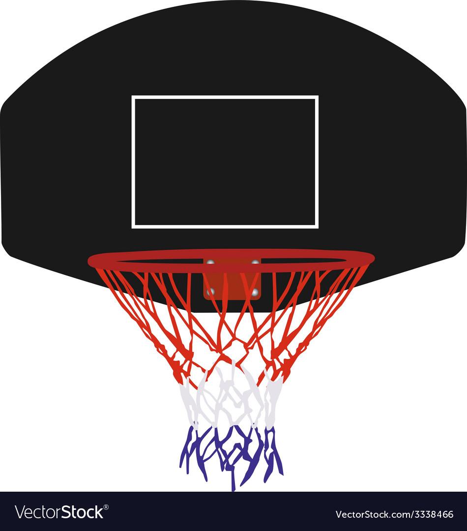 Black basketball basket vector