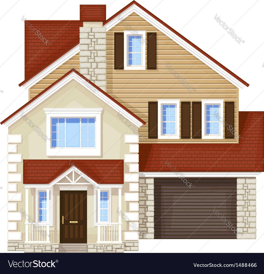 Front door house vector