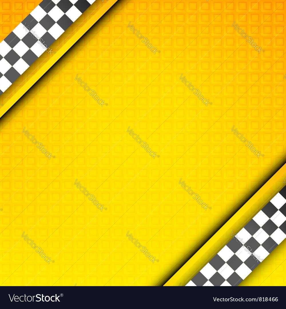 Racing template taxi backdrop vector