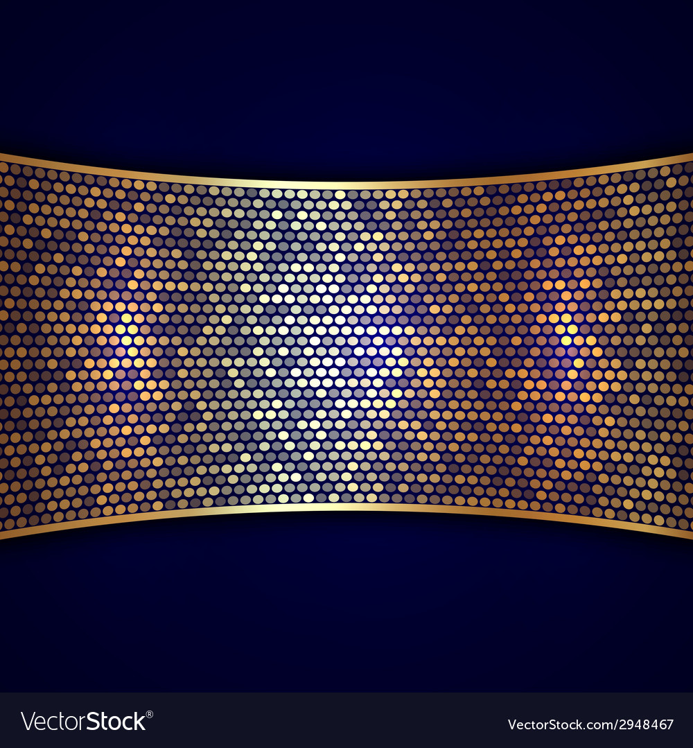 Abstract background with wide golden ribbon and vector