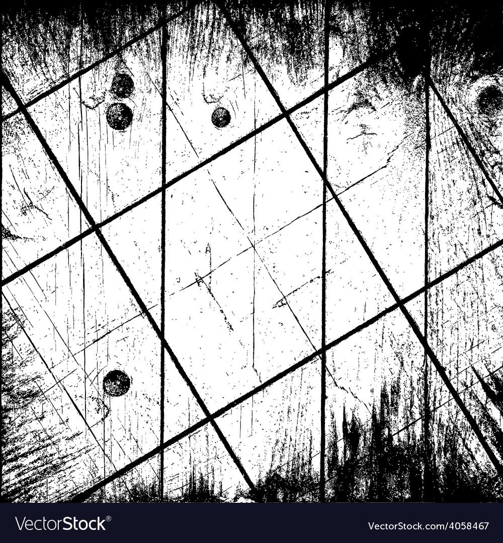 Grunge grid background vector