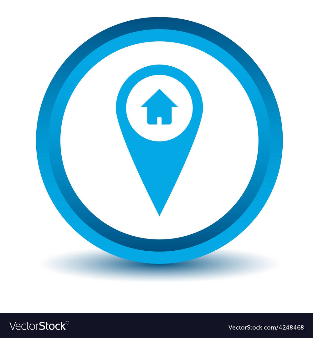 Blue home pointer icon vector