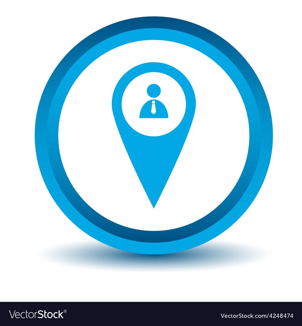 Blue man pointer icon vector