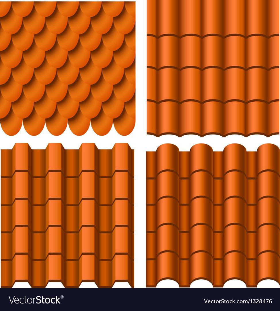 Roof pattern set vector