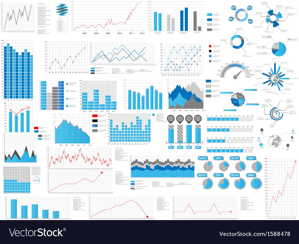 Infographic great collection vector